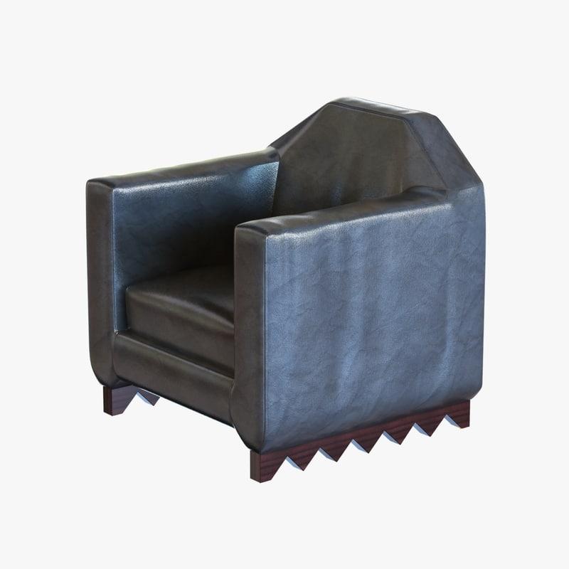 chair pierre legrain cubists 3ds
