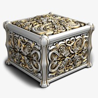 3d model of casket