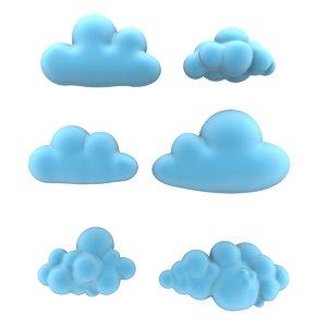x cartoon clouds