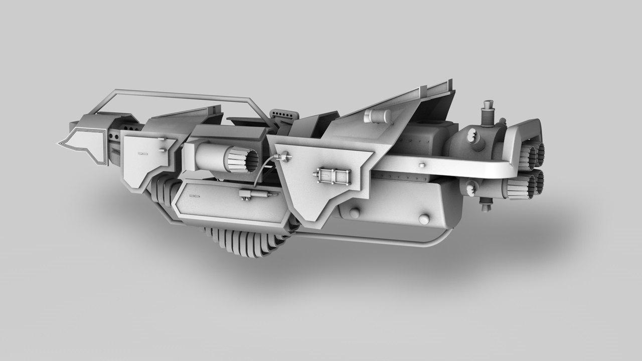 3d c4d space spaceship