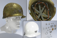 3d old usa helmet korea model