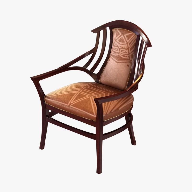 max oak upholstered bodenhausen armchair