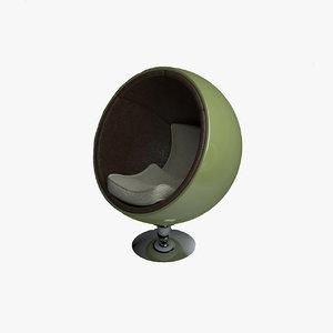 3d ball chair model