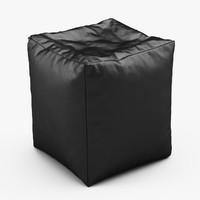 cube bean bag faux max