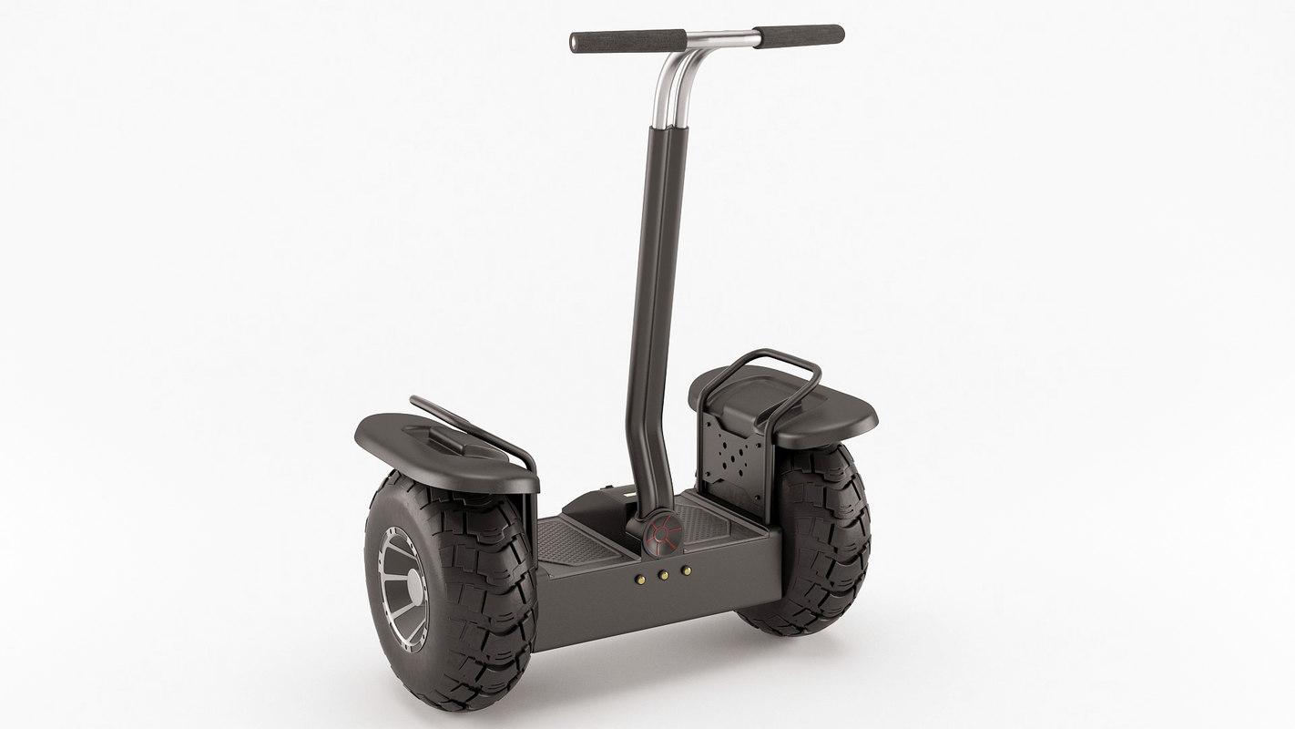 3d off-road self-balancing scooter model