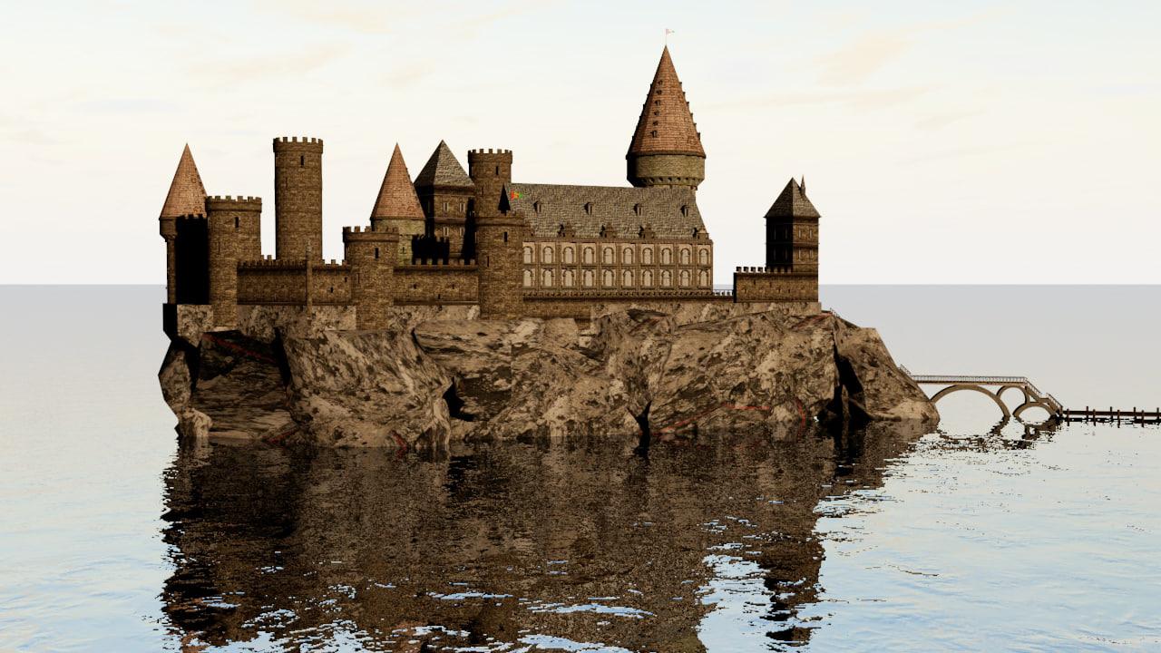 cinema4d pirate castle