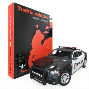 traffic vehicle 3d max