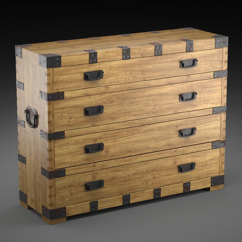 max chest vintage antique oak