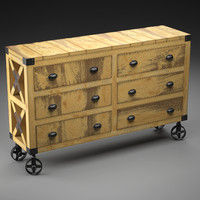 MANUFACTURE buffet-dresser on wheels in the industrial style
