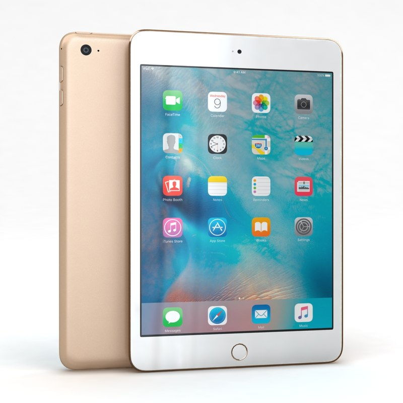 apple ipad mini 4 3d 3ds