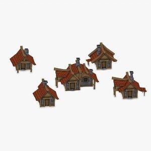 x houses village fantasy