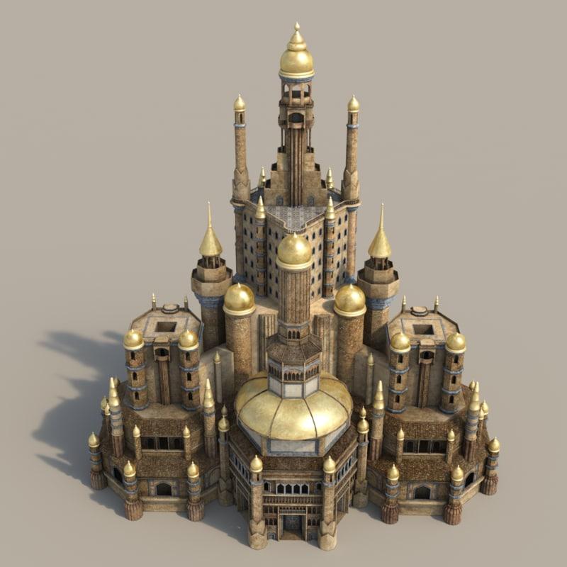 monumental palace city sha 3d max