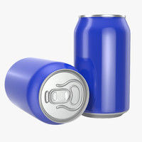 3d model beer aluminum beverage