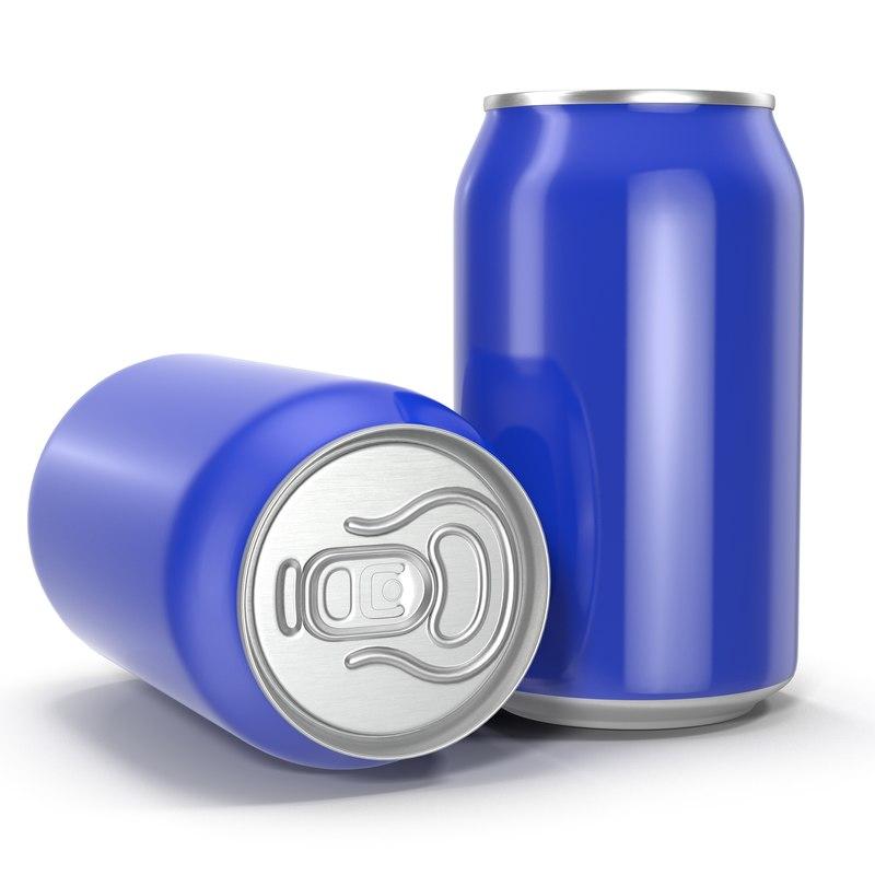 3d model beer aluminum beverage
