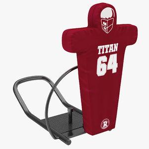 3d football tackling dummy 2 model