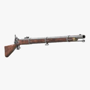 c4d musket modeled