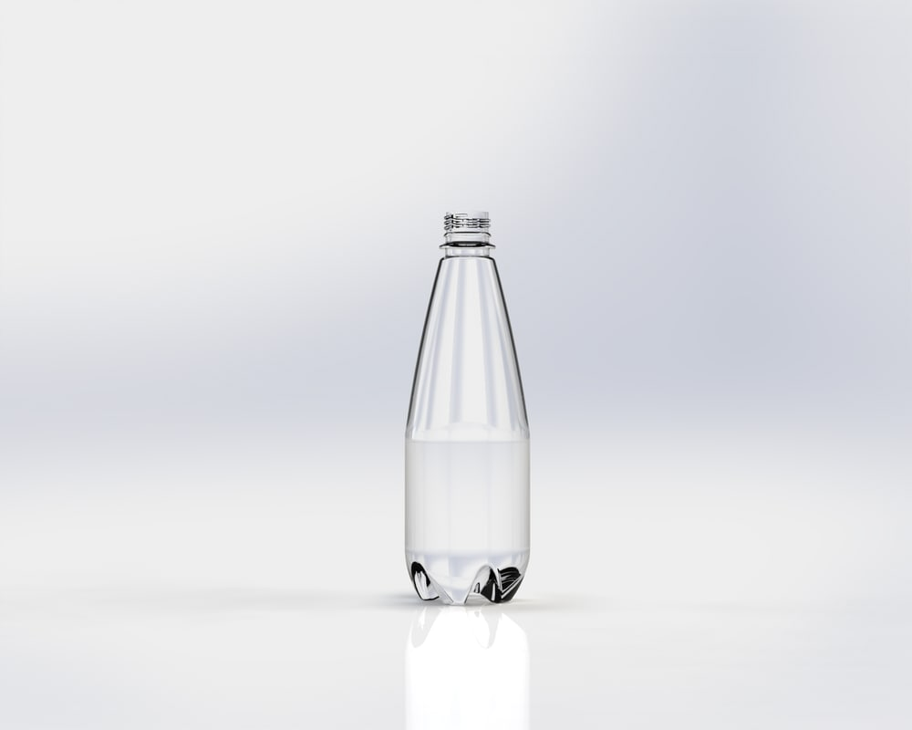 3d plastic glass bottle