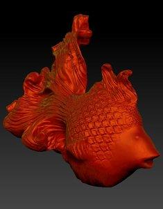 3d model gold fish