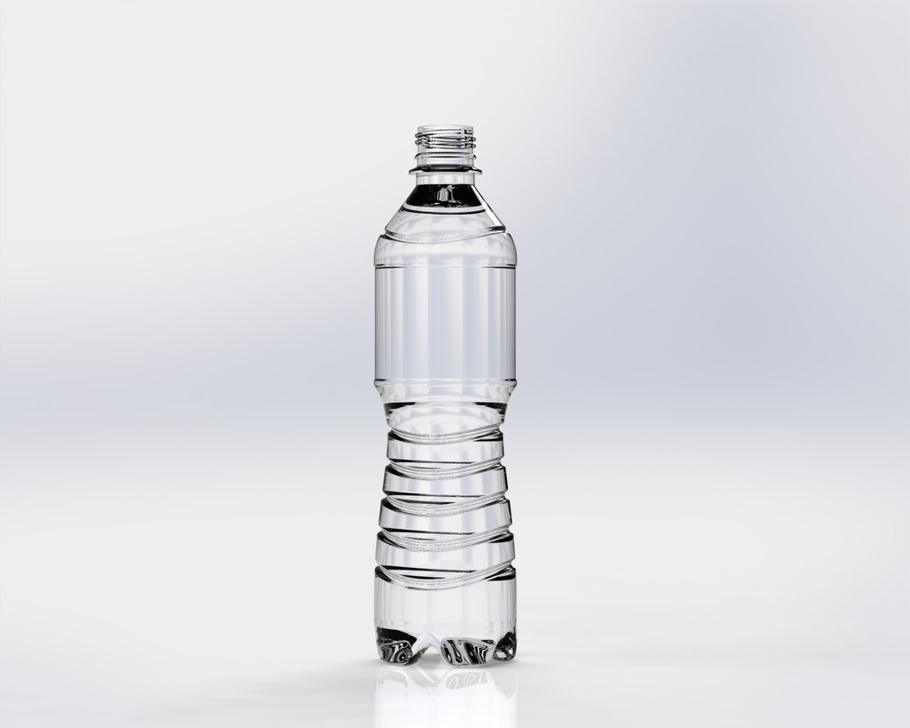 plastic glass bottle 3d model