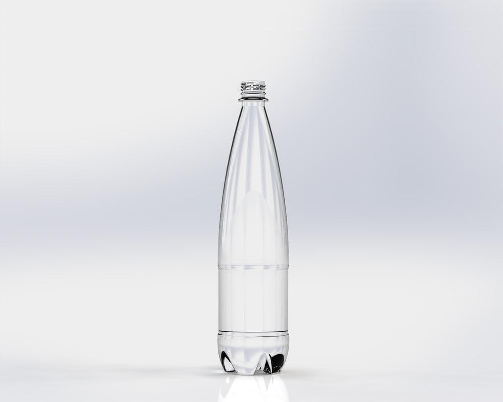 3d model plastic glass bottle