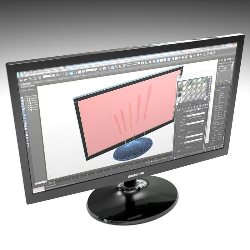 3d 24 computer monitor model