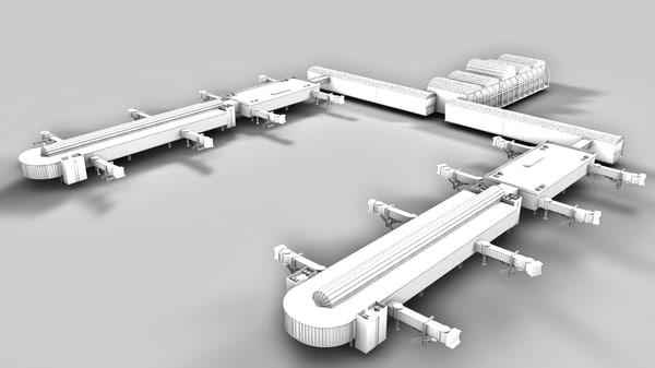 3d model airport bridges terminal
