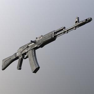 c4d kalashnikov ak-74m assault rifle