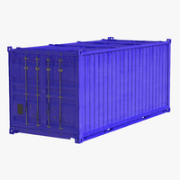 Collapsible ISO Container Blue 3D Model
