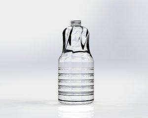 plastic glass bottle 3d model