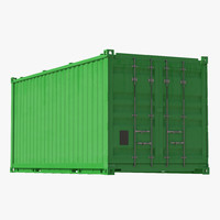 Collapsible ISO Container Green 3D Model