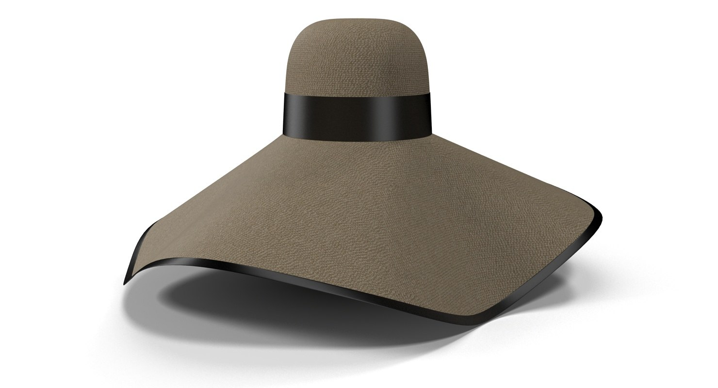 3d model sun hat