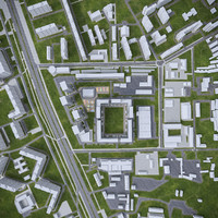 3d model urban area cityscape