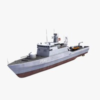 flyvefisken class patrol boat 3d model
