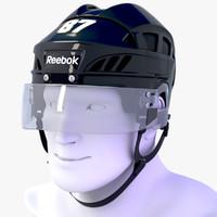 3d hockey helmet reebok 7k