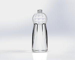 plastic glass bottle 3d obj