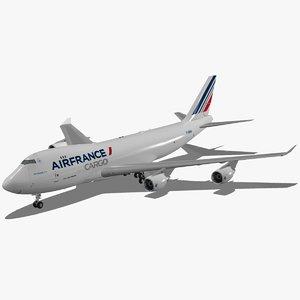 boeing 747-400 erf air france 3d max