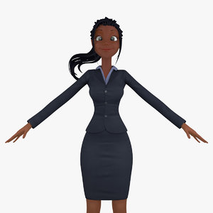 cartoon business woman max