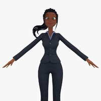 Cartoon Business Woman 2a