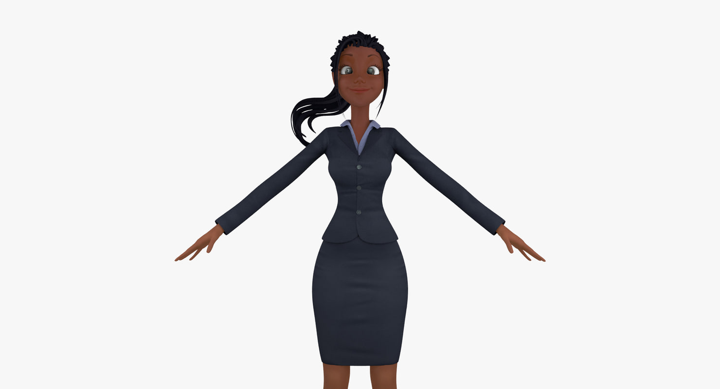 cartoon business woman max