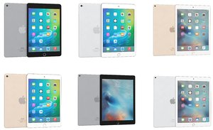 3d model apple ipad mini 4