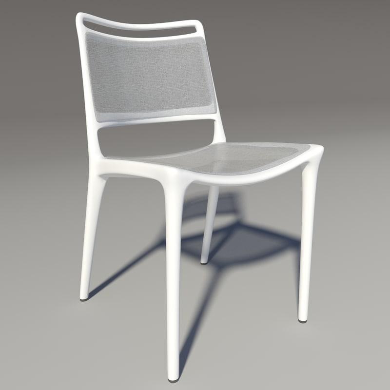 yang chair bontempi 3d model