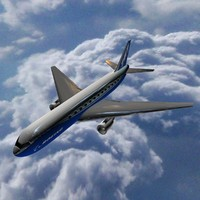 3d flying boeing 767