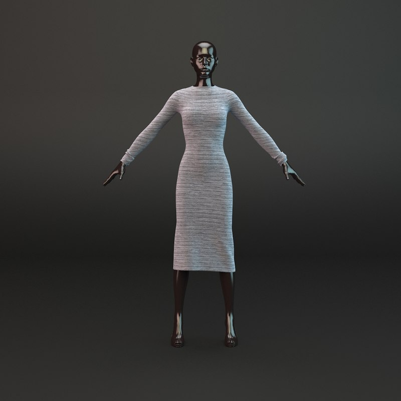 casual dress 3d model