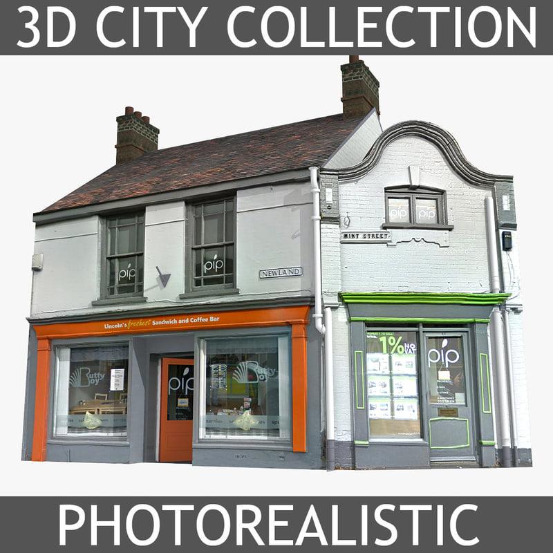 3d photorealistic brick house model