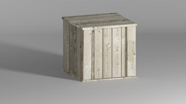 crate box 3d model