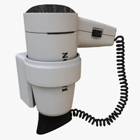3ds max realistic hotel style hair dryer