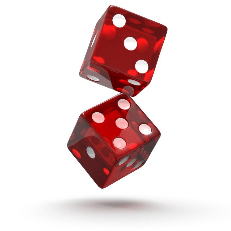 3d dice red model