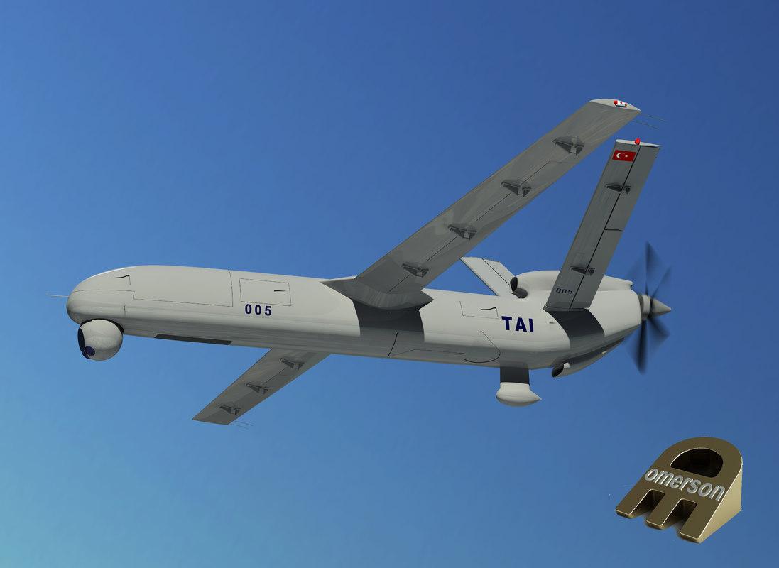 3d model unmanned vehicle uav anka