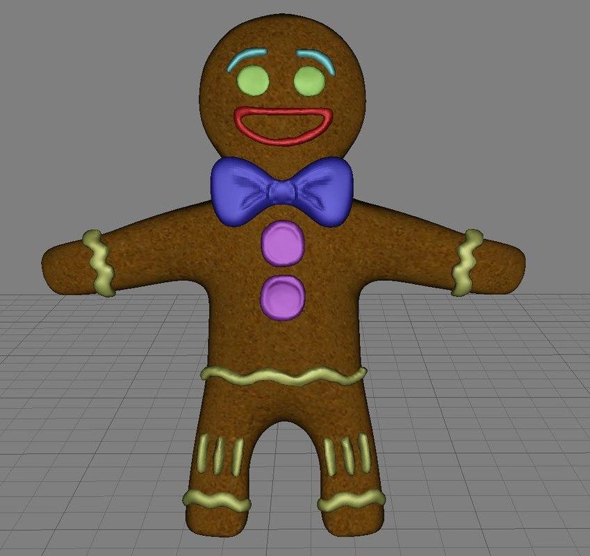 3d gingerbread man ginger