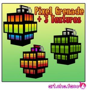 grenade pixel 3 3d model